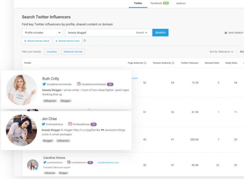 Twitter Influencers on BuzzSumo