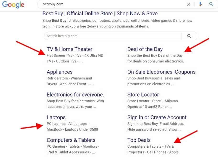 Site Architecture Google Search