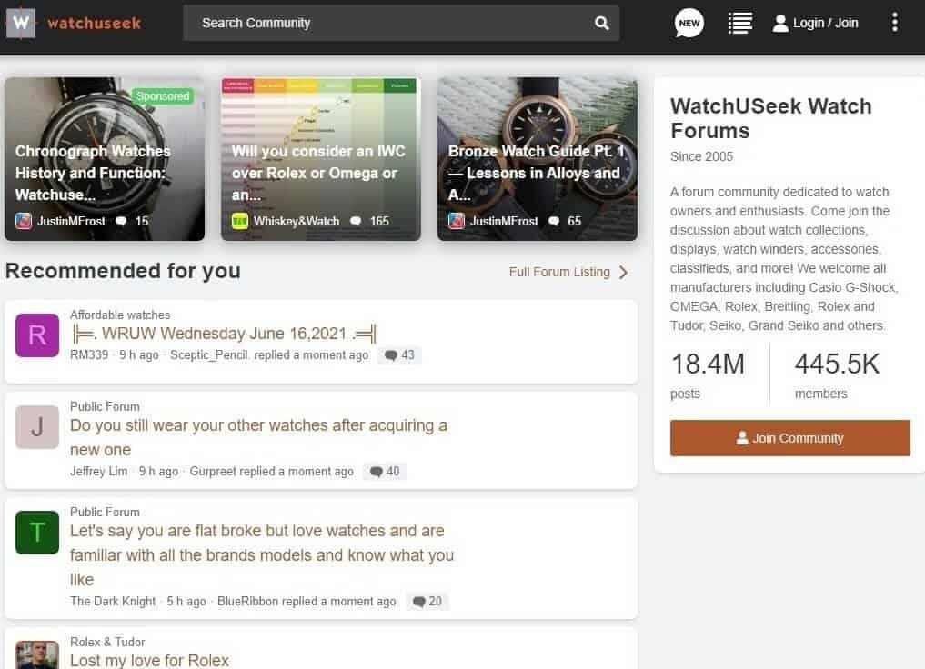 WatchUSeek Watch Forums