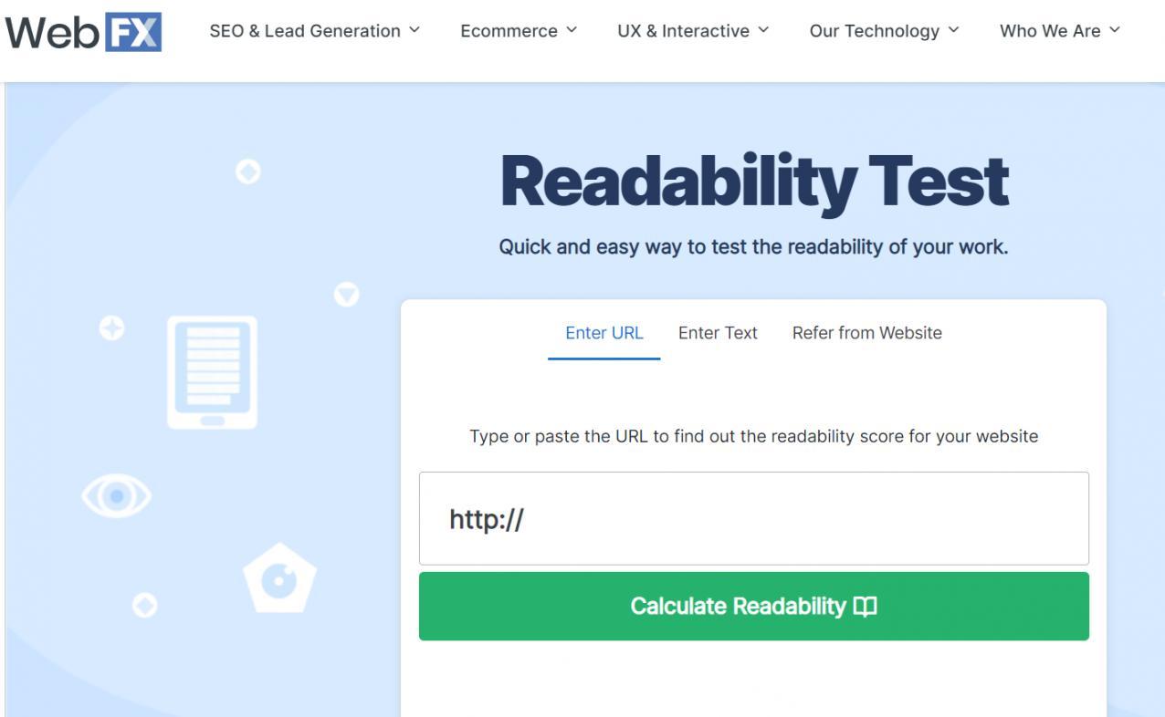 Readability Test by WebFX-1