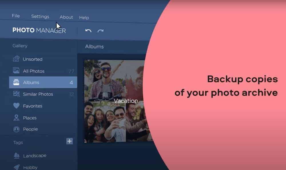 Movavi Photo Manager Backup Copies