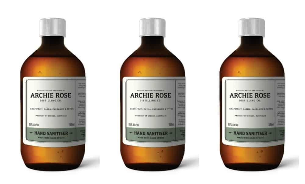 Archie Rose hand sanitiser
