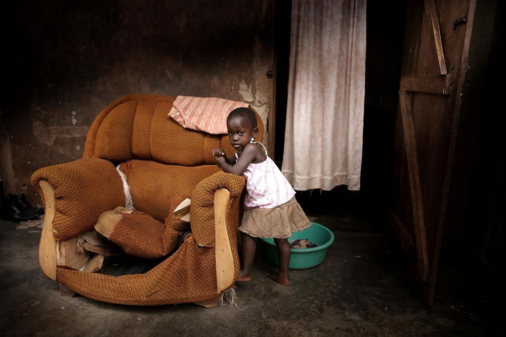 African child at home