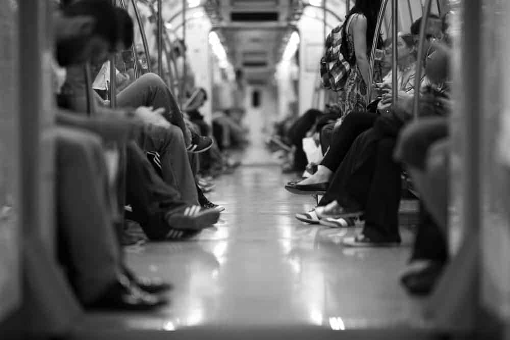 types of photography: Documentary, people in a train