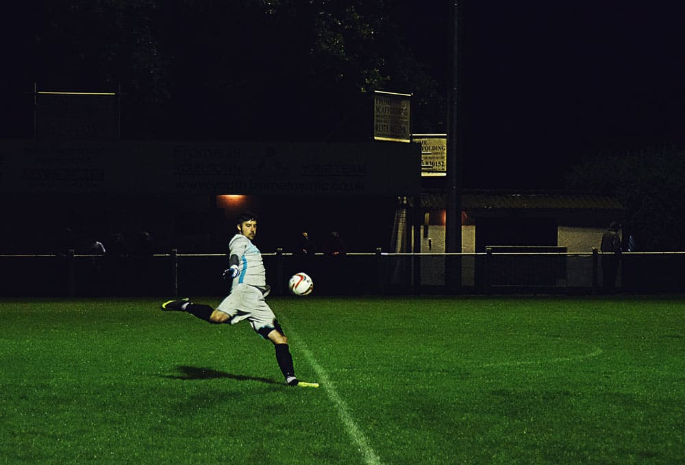 soccer photography in dark conditions