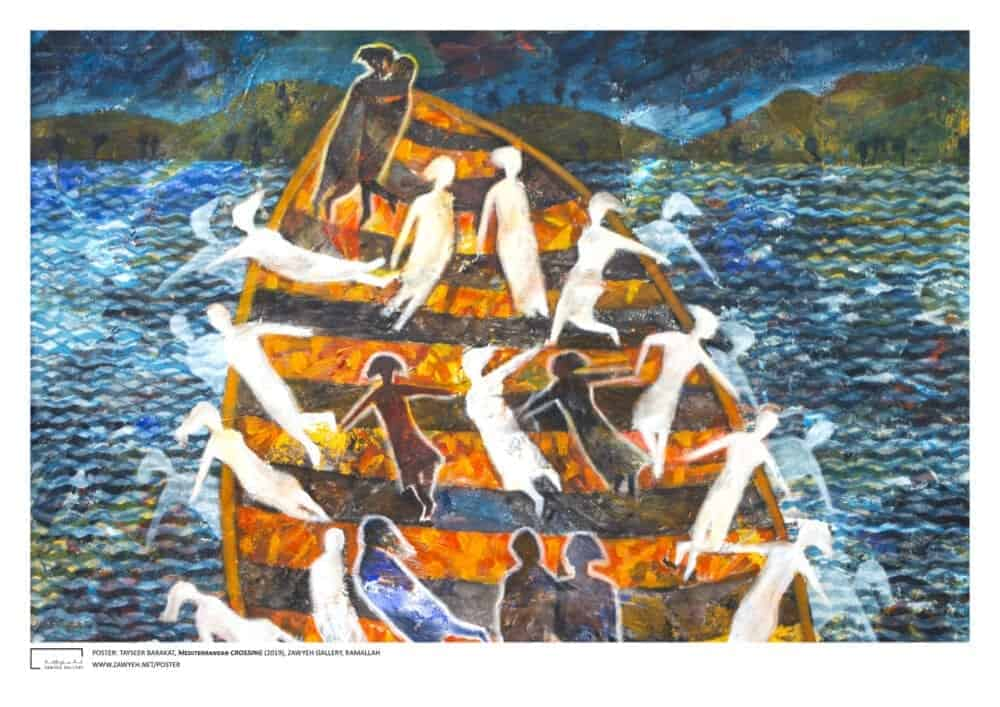 Mediterranean Crossing by Tayseer Barakat Poster