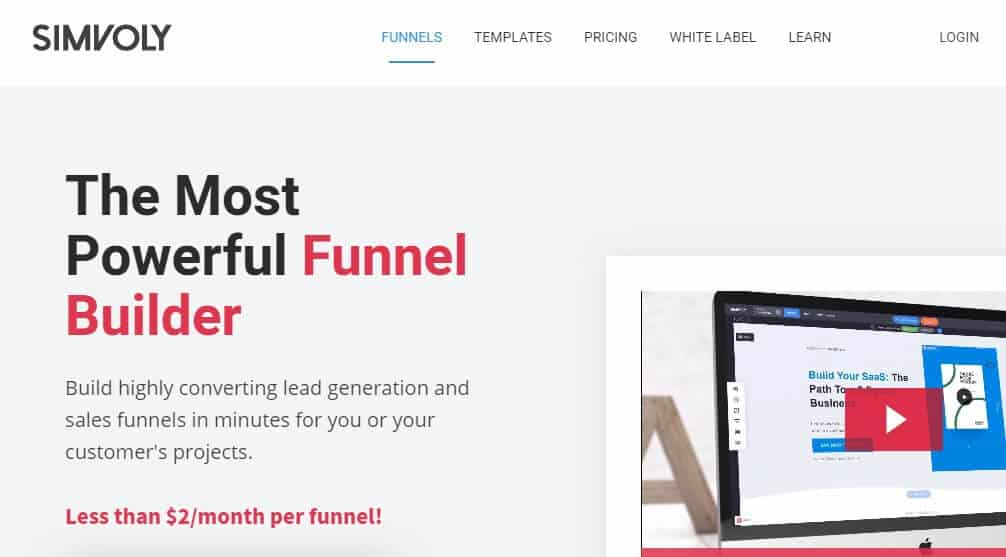 Simvoly ClickFunnels Alternative