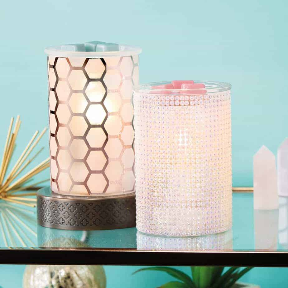 Hive A Nice Day Scentsy Warmer / Mother Of Pearl Scentsy Warmer