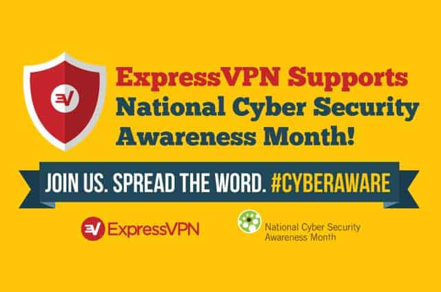 A snippet from the =Cyber Security Month infographic.