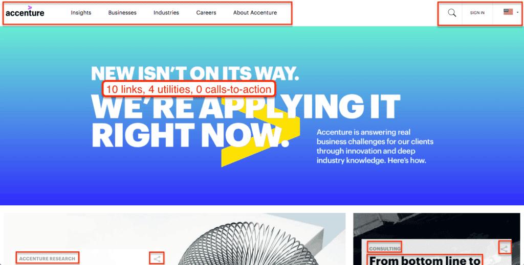 Accenture Bad Lead Generation UX