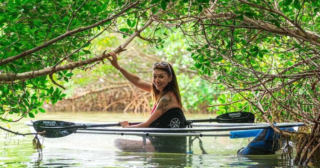 Kayaking Caladesi Island.