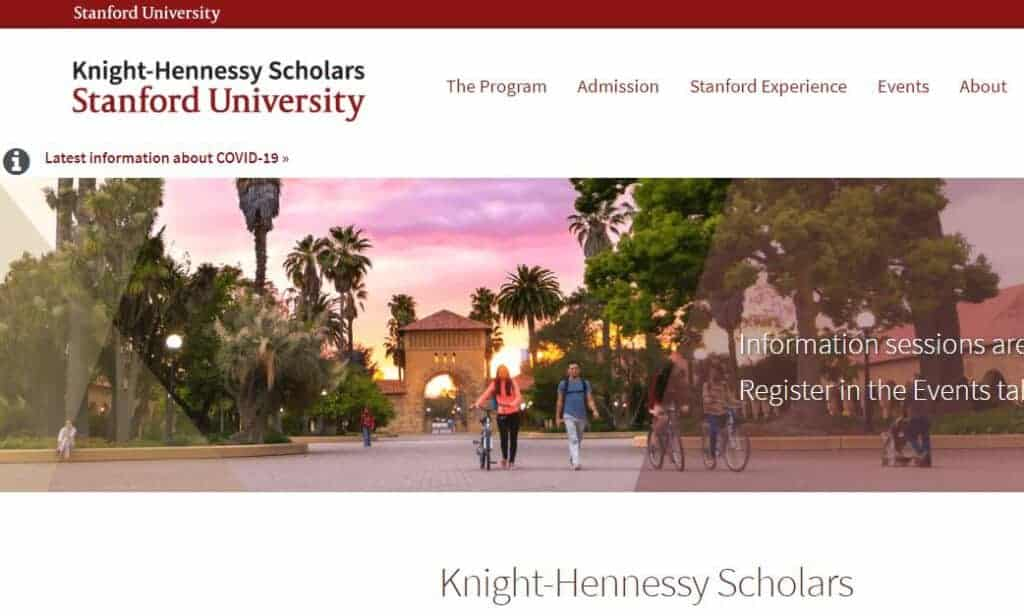 Knight Hennessy Scholarship for Stanford - Best Scholarships