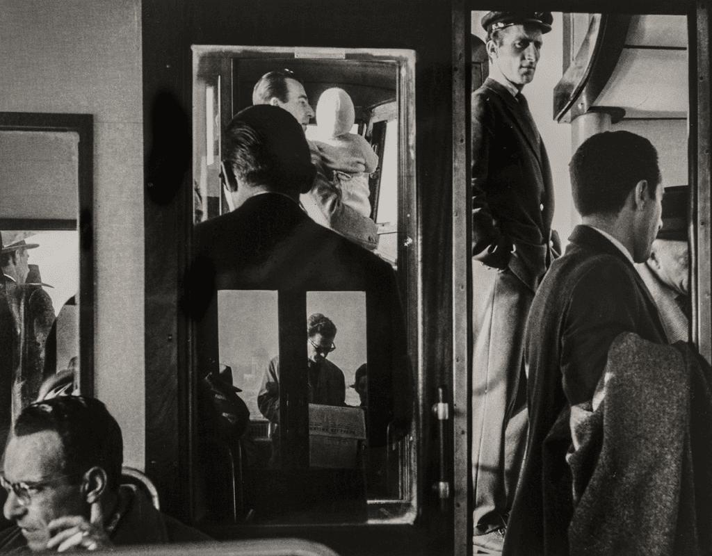 On a vaporetto, Venice, 1958 © Gianni Berengo Gardin