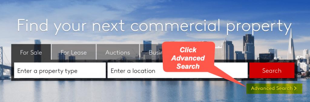 Loopnet Advanced Search
