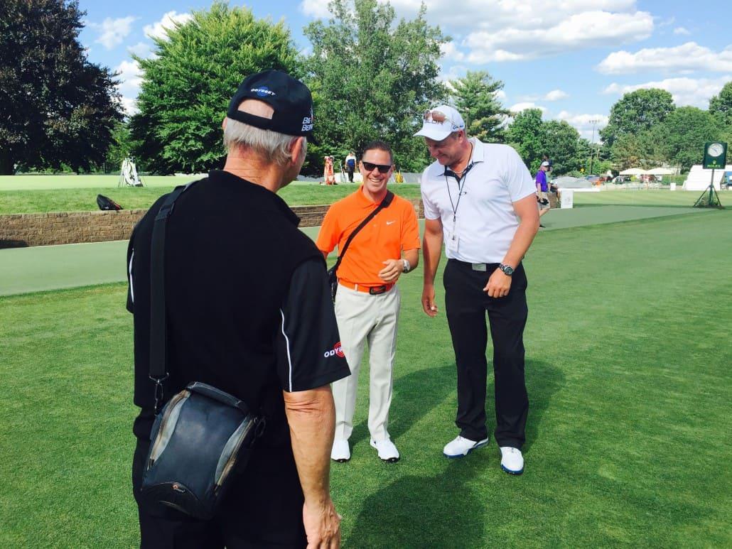 Craig Hanson with Sean Foley and Peter Cowan