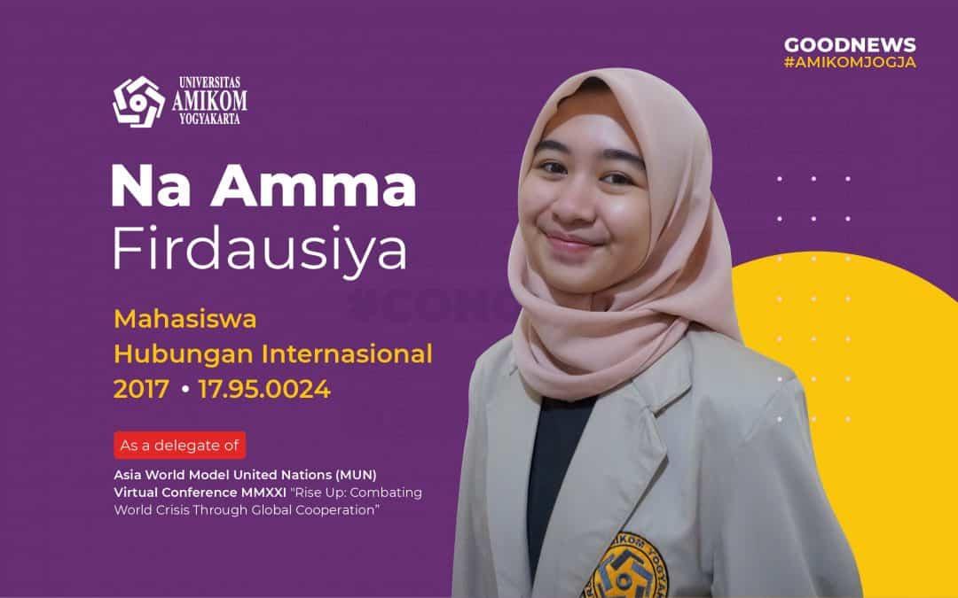 Mahasiwa Prodi Hubungan Internasional terpilih sebagai Delegasi Asia World Model United Nations (MUN) Virtual Conference MMXXI
