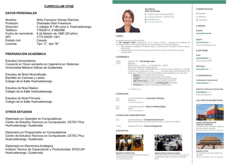 curriculum tradicional y moderno
