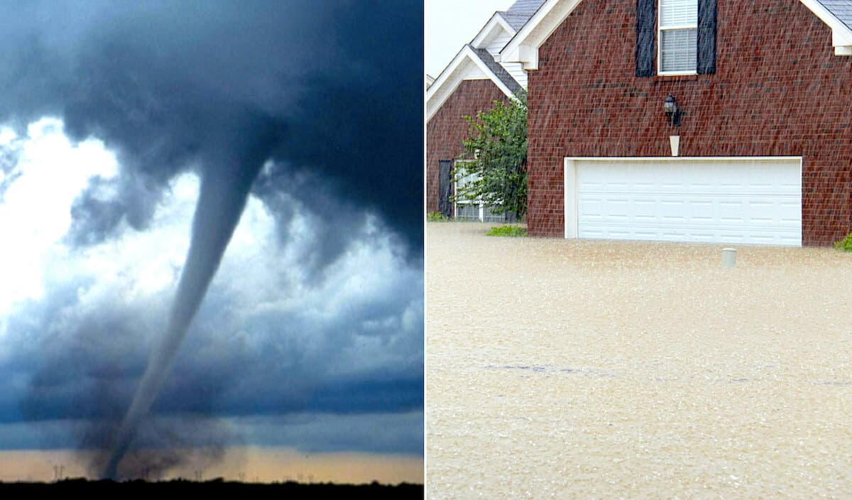 Concurrent Causation Tornado and Flood Damage
