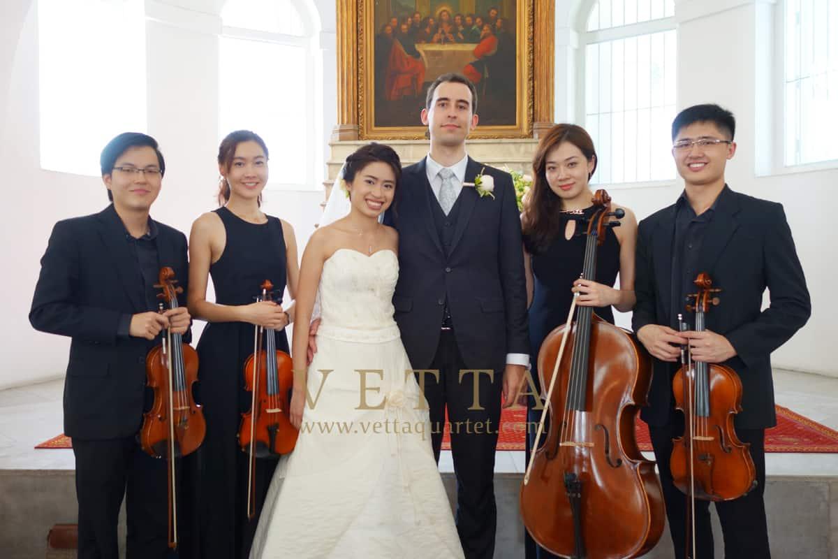 string quartet wedding armenian church singapore