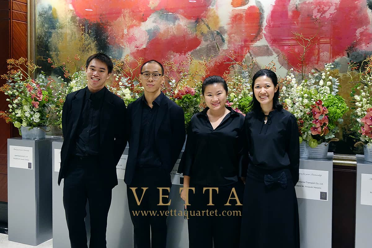 String Musicians for Japanese Corporate booking at Shangri La