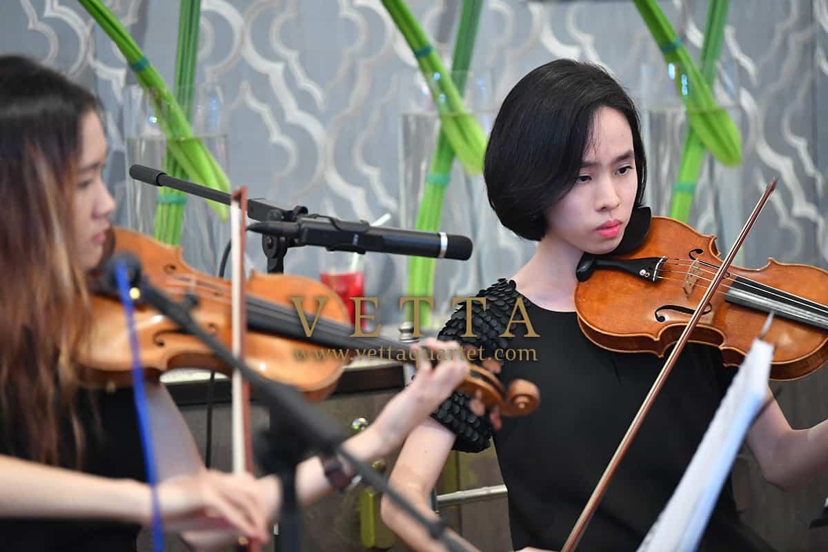 ESTA Female String Quartet for Corporate formal celebration at Clifford Pier