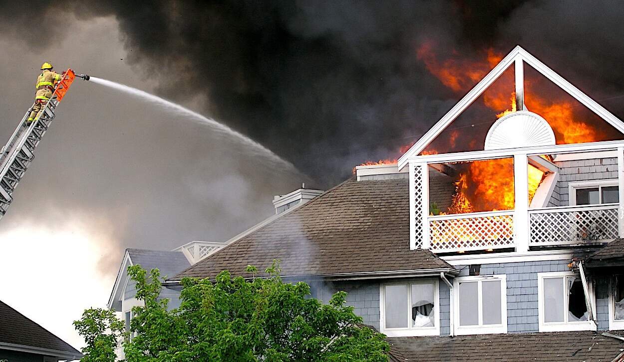 House Damages from Fire Loss Insurance Claims