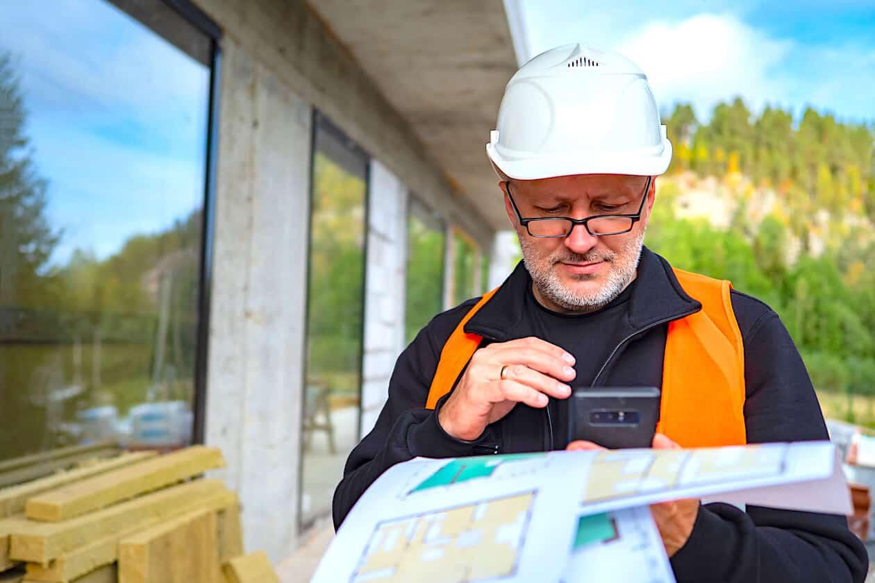 Engineer Inspecting Insurance Claim