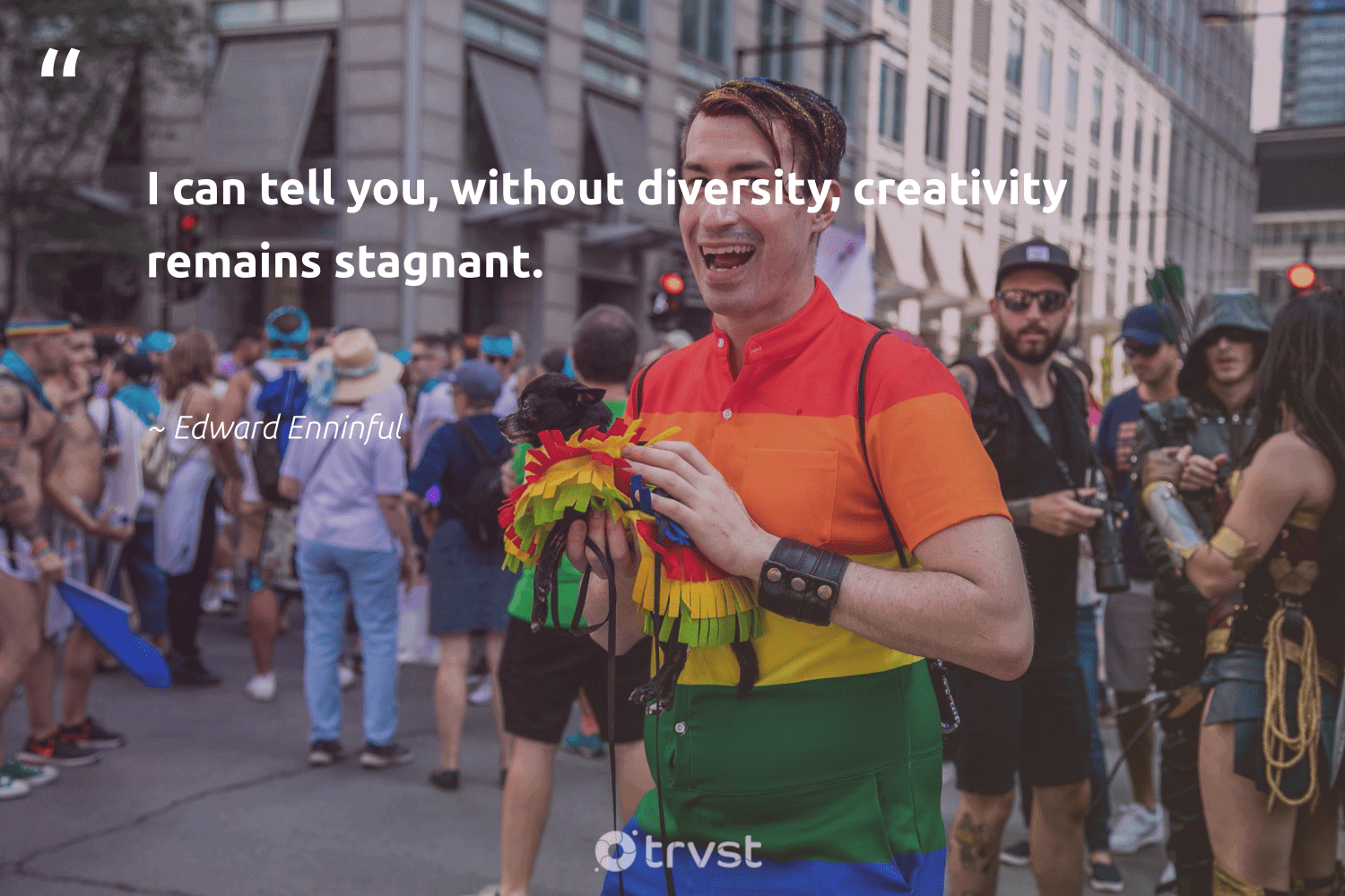 """""""I can tell you, without diversity, creativity remains stagnant.""""  - Edward Enninful #trvst #quotes #diversity #creativity #discrimination #representationmatters #socialchange #bethechange #thinkgreen #inclusion #weareallone #socialgood"""