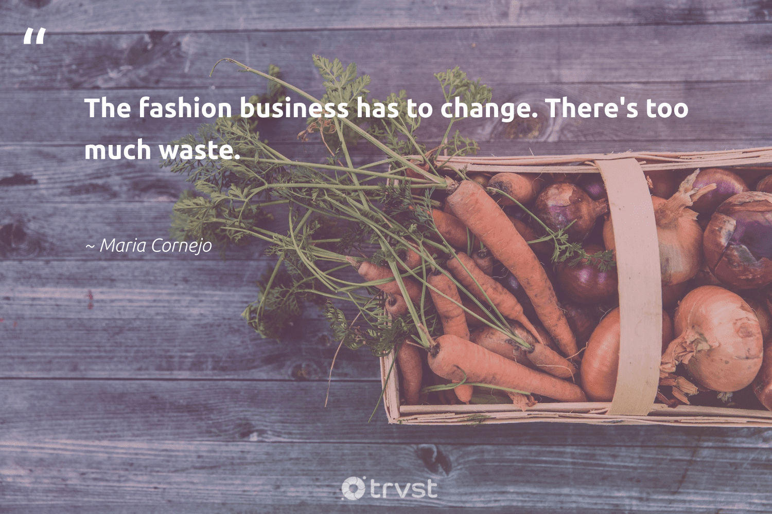 """""""The fashion business has to change. There's too much waste.""""  - Maria Cornejo #trvst #quotes #waste #fashion #greenliving #ecoconscious #green #gogreen #bethechange #socialchange #sustainability #takeaction"""