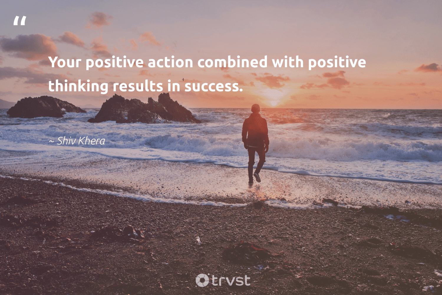 """""""Your positive action combined with positive thinking results in success.""""  - Shiv Khera #trvst #quotes #results #success #motivation #goals #softskills #socialimpact #focus #acheivement #nevergiveup #socialchange"""