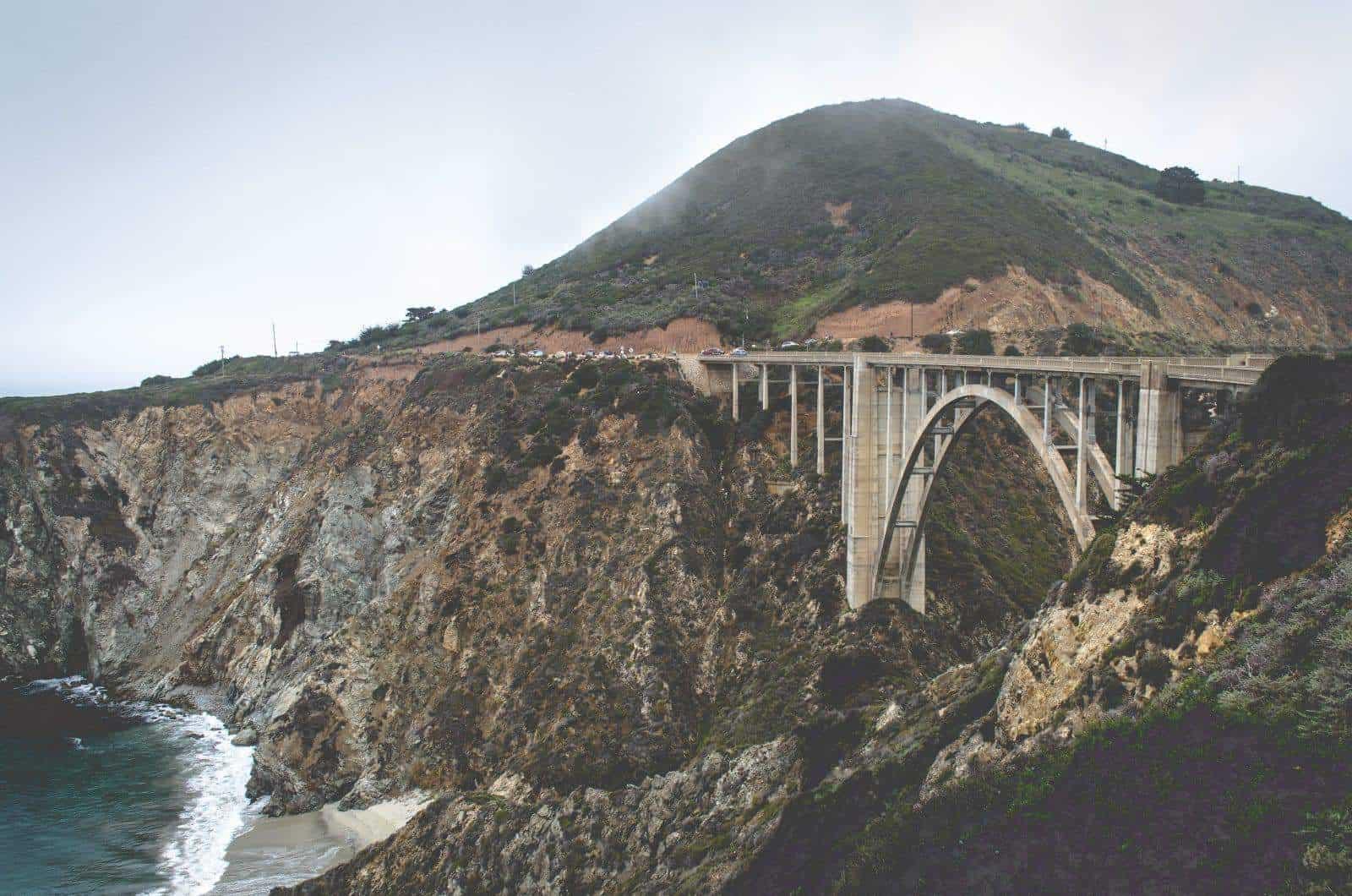 Bixby Bridge, Montery California. Photo by Will Langenberg on Unsplash.