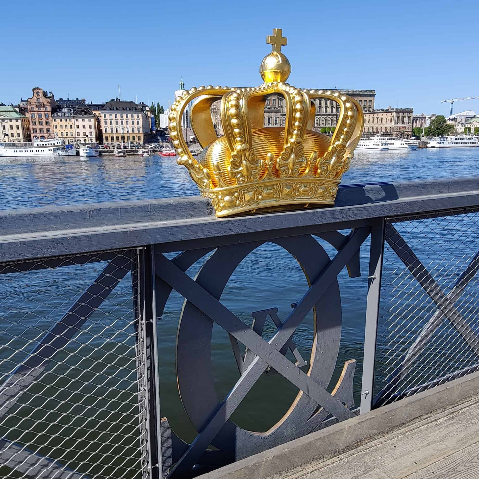 Skeppsholmsbron med nytt säkerhetsnät från X-line och Jakob webnet