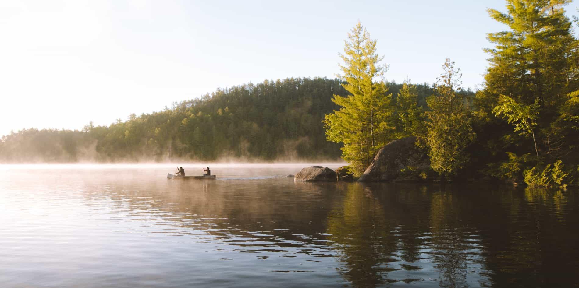 parc régional, canot, kayak, montagne diable