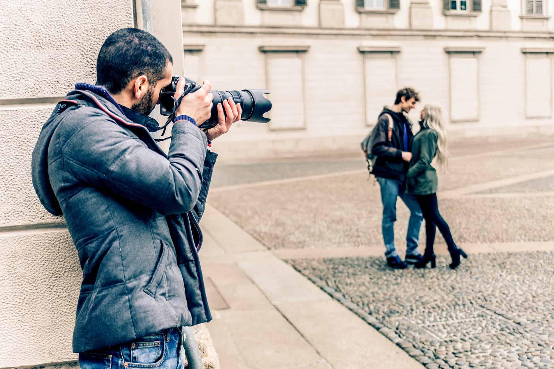 Private Investigator taking photos