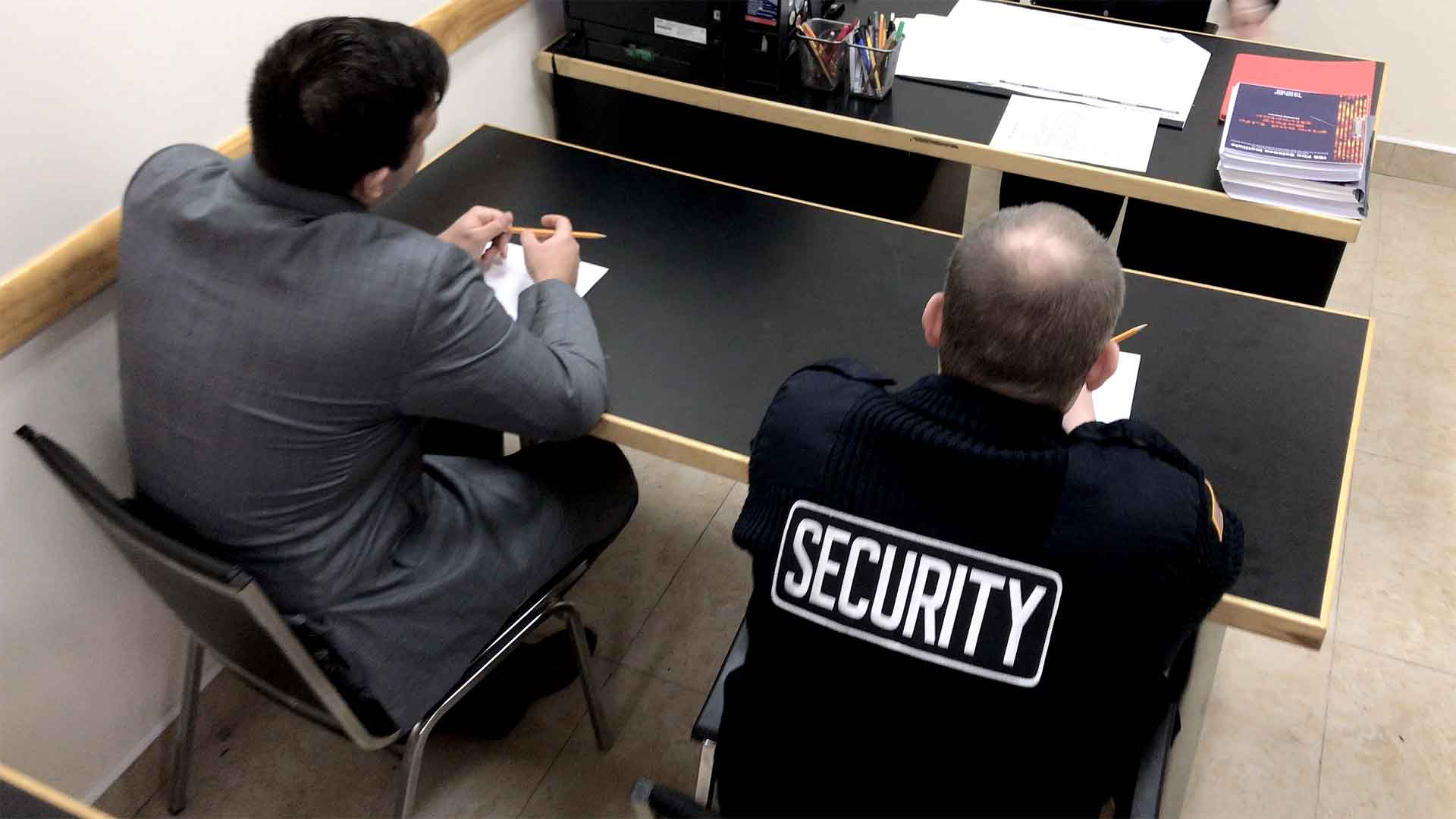 Security guard training class in Brooklyn's training center