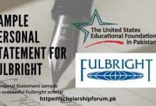Photo of Fulbright Personal Statement Sample