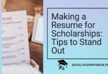 Photo of Making a Resume for Scholarships: Tips to Stand Out