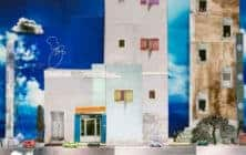 Wafa Hourani Palestinian Artist banner, Abu Dhabi