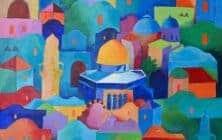 Hosni Radwan, Jerusalem #2 (2020), acrylic on canvas, 96 × 66 cm