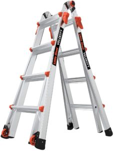 Little Giant Ladders, Velocity with Wheels, M17, 17 Ft, Multi-Position Ladder, Aluminum, Type 1A, 300 lbs Weight Rating, (15417-001)
