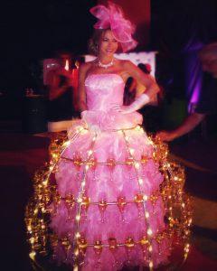 robe à champagne, robe rose