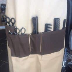 Avental para barbeiro frontal