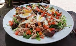 Salade Nicoise, a salad popular in Provence France