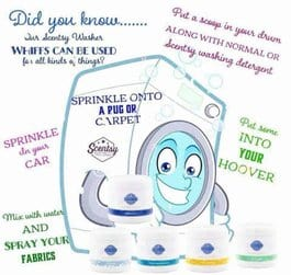 Scentsy washer whiffs can also be used for...