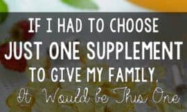 Yup. This is the one that I'd choose first and foremost! It packs a serious punch for our health, and is recommended by alternative medicine and MD's alike.