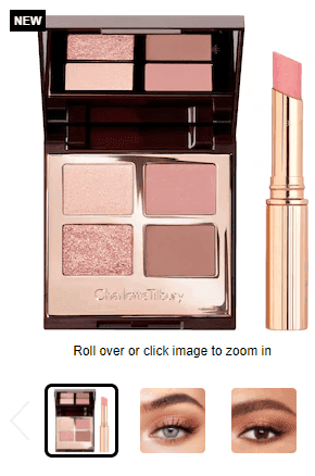 Charlotte Tilbery makeup set