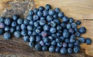 Wenig Zucker in Blaubeeren