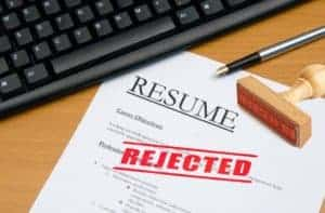 resume rejected