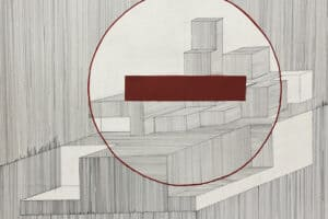 Yazan Abu Salameh, Stop (2021), ink and acrylic on paper, 80 x 75 cm