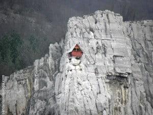 Felswand zum Klettern